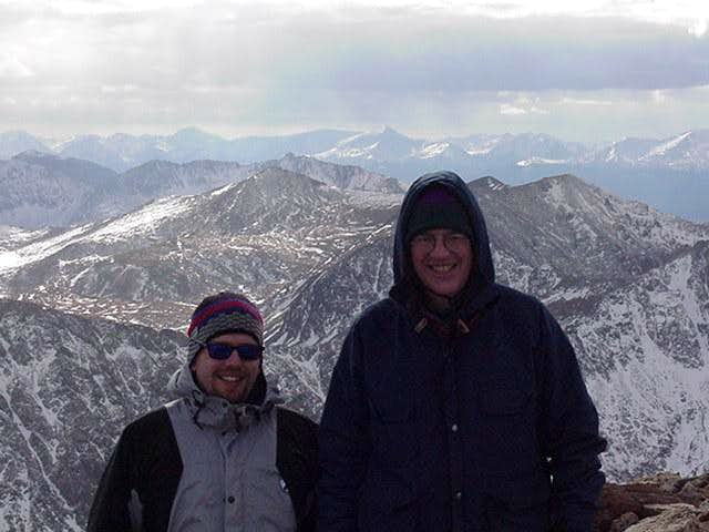 On the summit with my Dad.