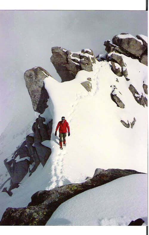 Spring climbing on Lone Peak