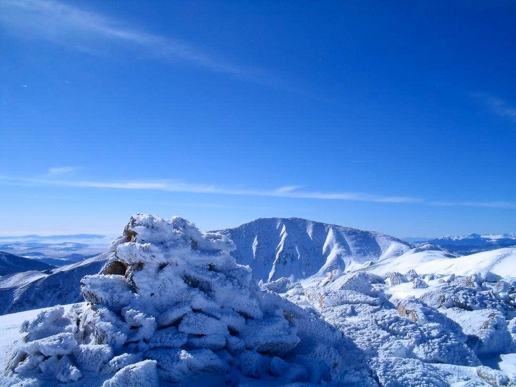 Hoosier Ridge summit cairn