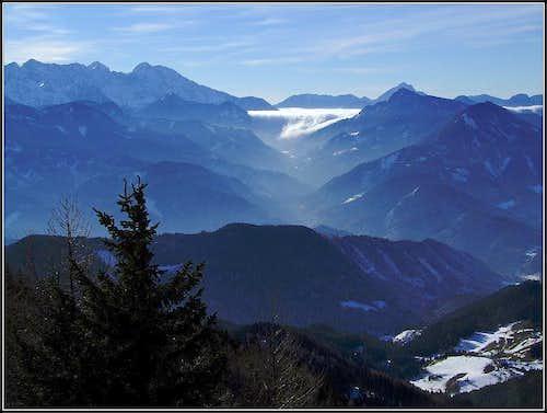 Ojstra summit view