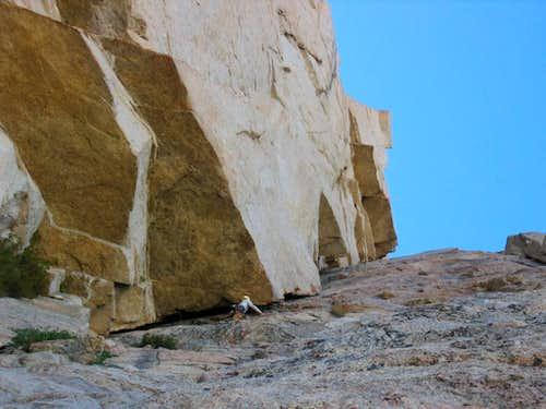 Stephen Quale climbing Milktoast Chimney