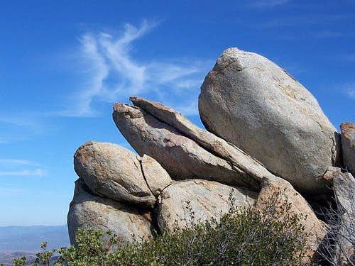 Summit boulders