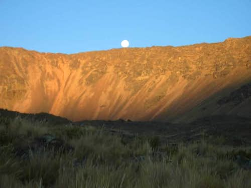Moonrise over Volcan Huambo