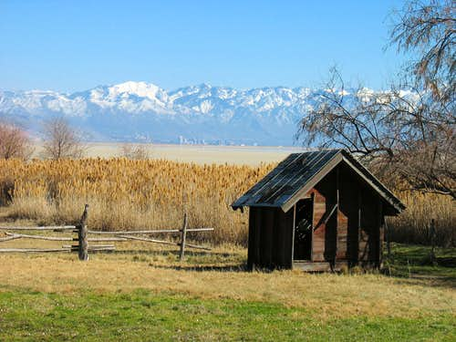 Salt Lake City from Antelope Island Farm