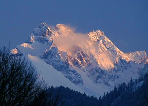Alpenglow on the Allgäu Alps Trinity