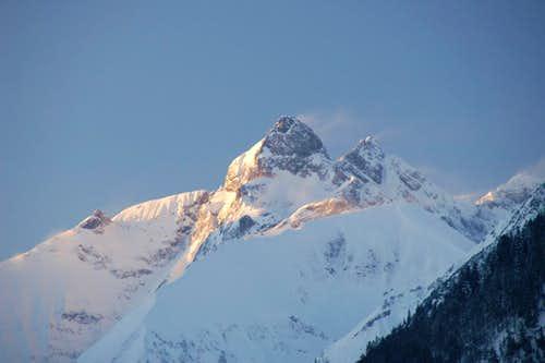 Sunrise on Trettachspitze
