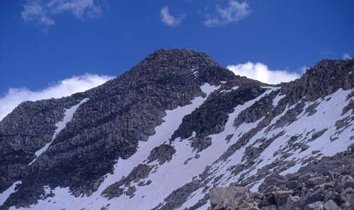 A view of the north face of...