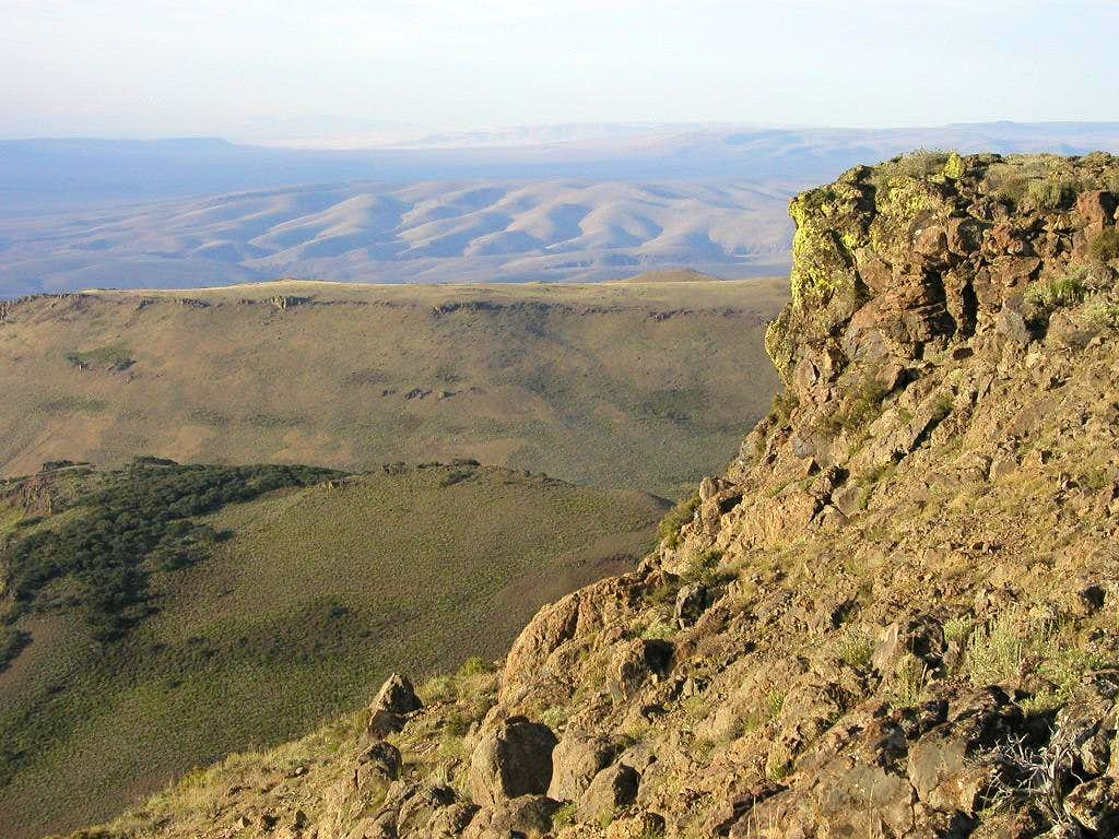 Looking south from the highpoint