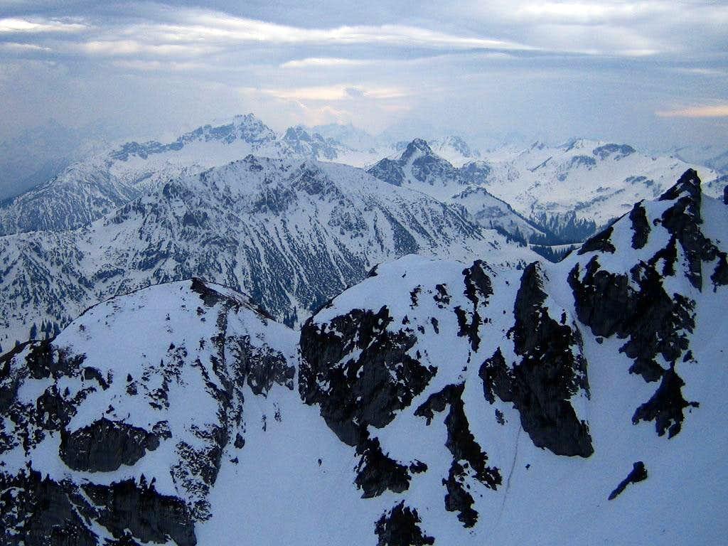 Snowy Allgäu Peaks