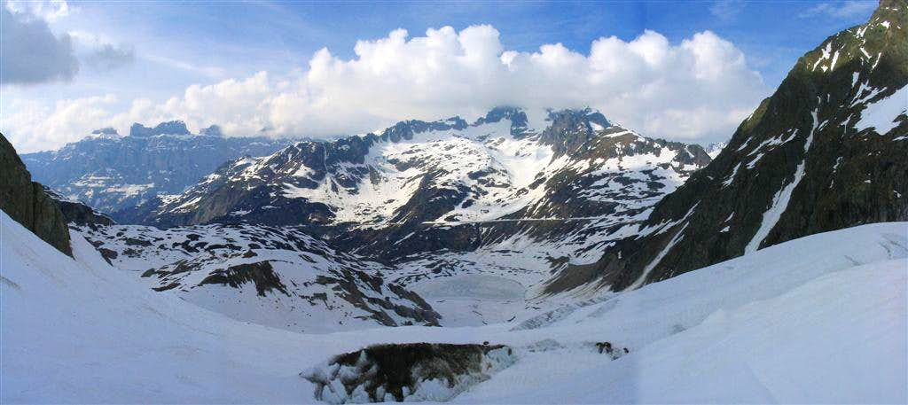 A view of the Steingletscher at the Sustenpass