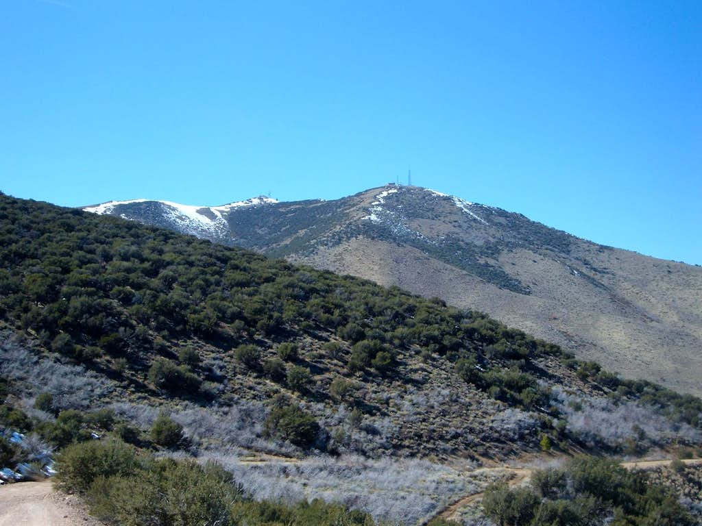 View of Peavine Peak from the road to the summit ridge