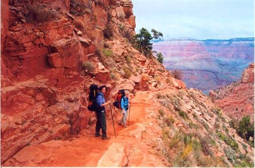 Hiking South Kaibab March 2001