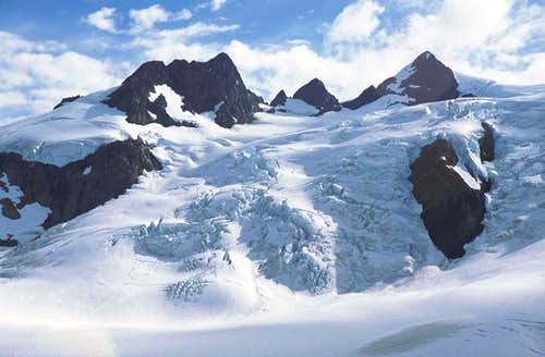The Blue Glacier on Mt. Olympus