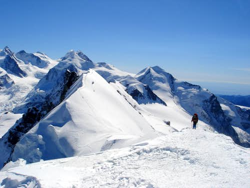 Summit view from Breithorn