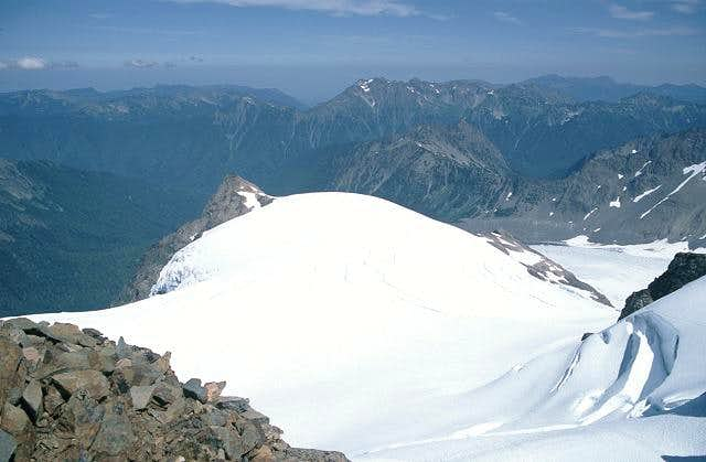 Summit view of Snow Dome and...
