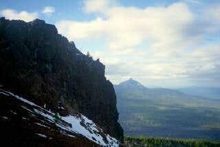 Summit crag of Black Crater...
