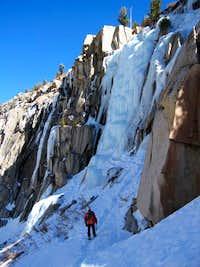 Climber viewing Chouinard Falls