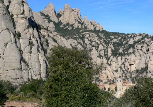 Monestir de Montserrat from the SE