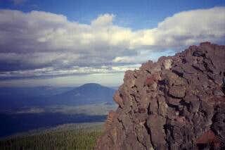 Summit block of Black Crater...