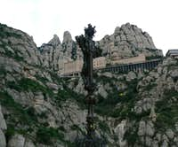 Montserrat Monastery from below.