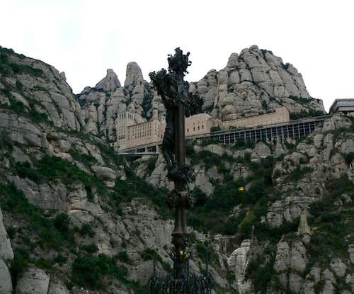 Montserrat Monastery from below.
