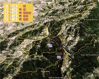 Placa Santa Maria to Sant Jeroni Route Map