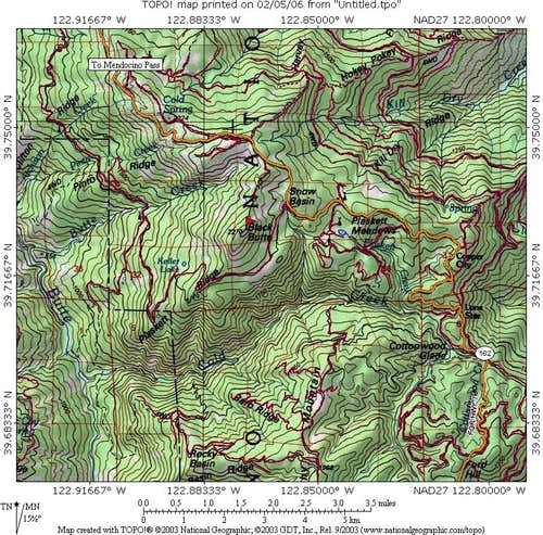 Black Butte area map