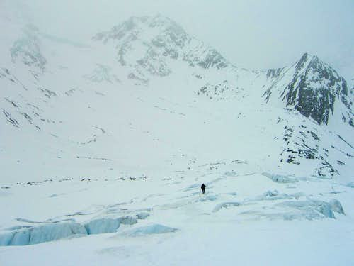 On the Taschach glacier