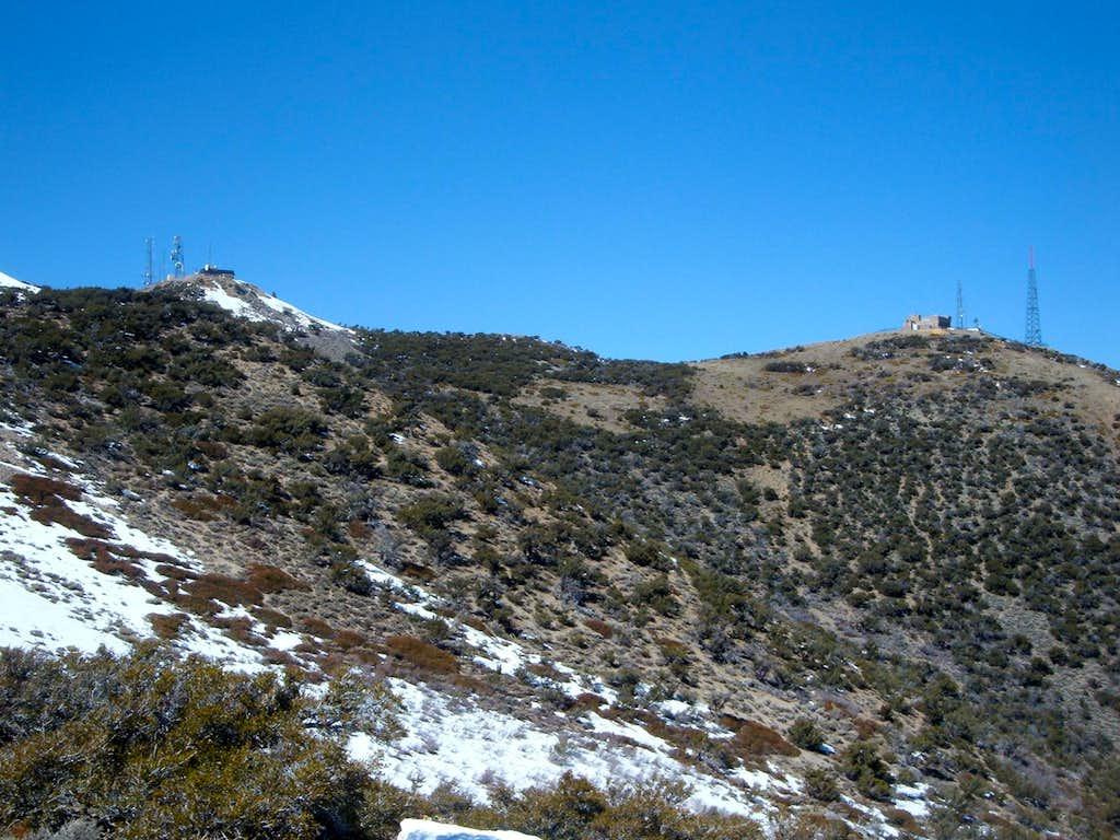 The twin summits of Peavine Peak