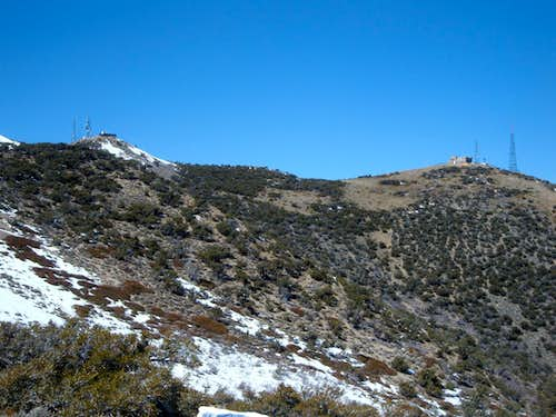 The twin summits of Peavine Peak