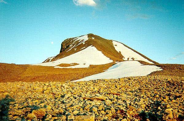 Ascending the gentle ridge to...