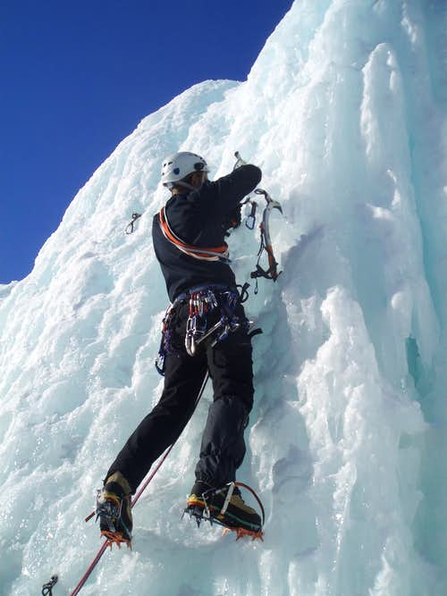Ice Climbing on Alps