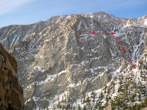 Jim\'s Buttress, III, 5.10