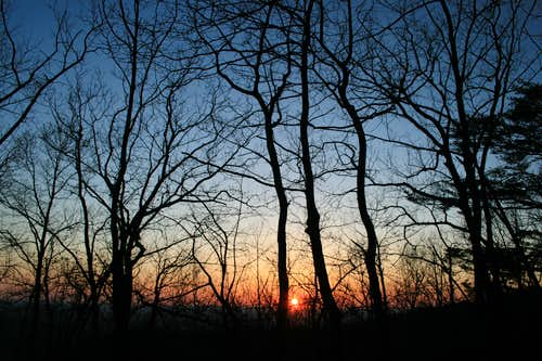 sunset at Cheaha