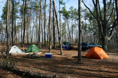 lower primitive campground at Cheaha