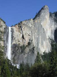 Bridalveil Falls and the...