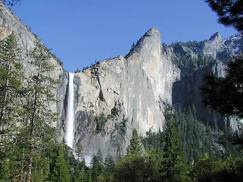 Bridalveil Falls and the...