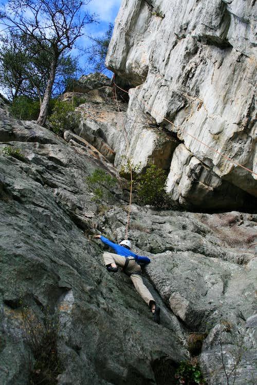 climbing in the Rock Gardens