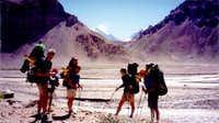 first view of Aconcagua from...