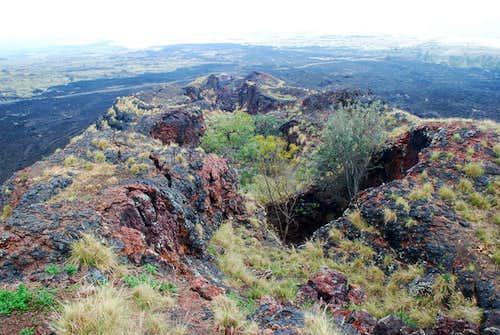 Puhia Pele - view of fissure