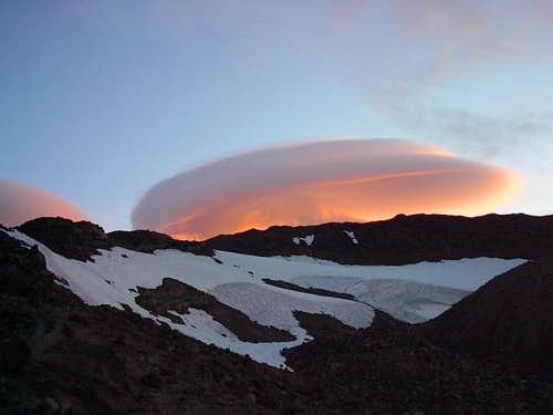 A lenticular cloud above the...