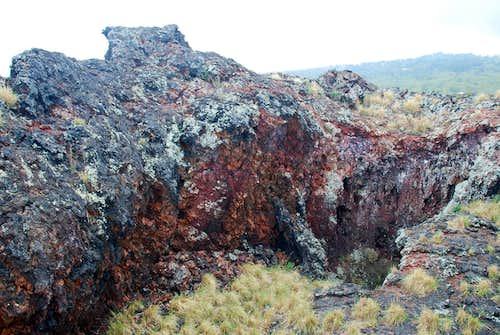 Puhia Pele - summit and pit