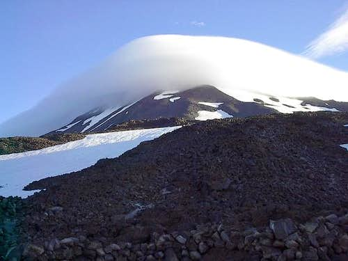 A cloud cap on Mt. Adams from...