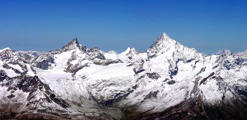 Zinalrothorn (4221 m) and Weisshorn (4506 m)