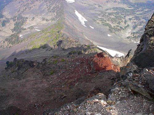 View down the Northwest Ridge...