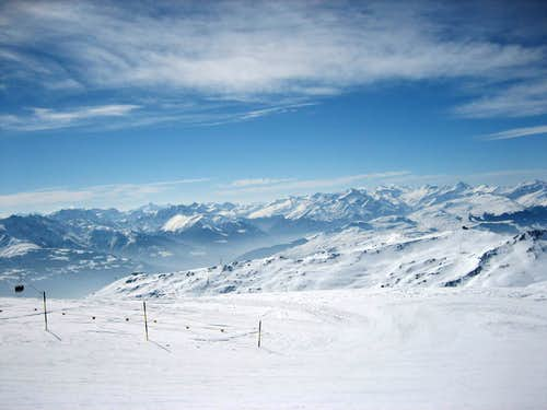 Winter impression of Flims Laax Switzerland