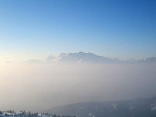 Panorama view of Flims Laax Switzerland