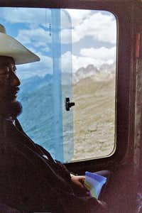 Tibetan man with ghost money