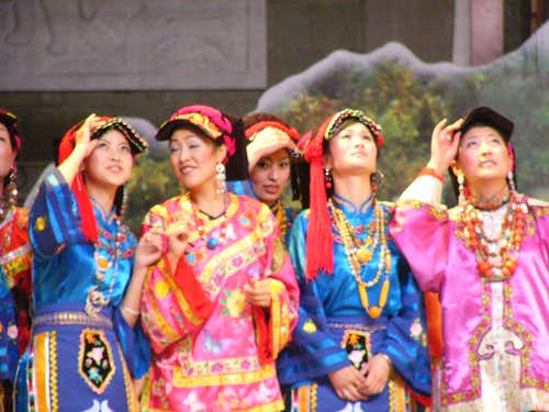 Tibetan woman at Lovesong of Kangding Festival