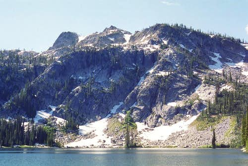 Bruin Mountain, south and Upper Hazard Lake